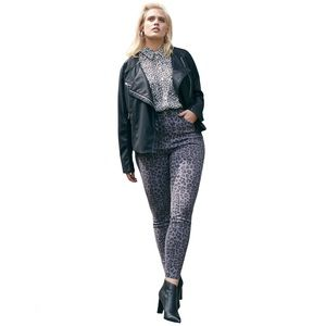NWT Good American Leopard High Waist Skinny Jeans